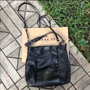 Coach BlackIsabelle Hobo Leather Crossbody Bag
